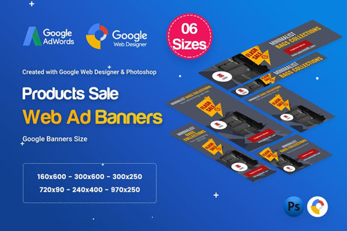 Product Sale Banners HTML5 D8 Ad - GWD & PSD - 767BYM