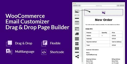 CodeCanyon - WooCommerce Email Customizer with Drag and Drop Email Builder v1.5.6 - 19849378
