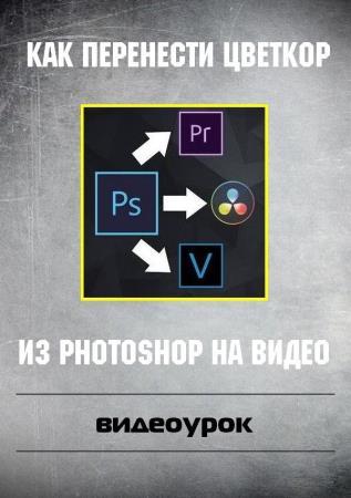 Как перенести цветкор из Photoshop на видео (2019)