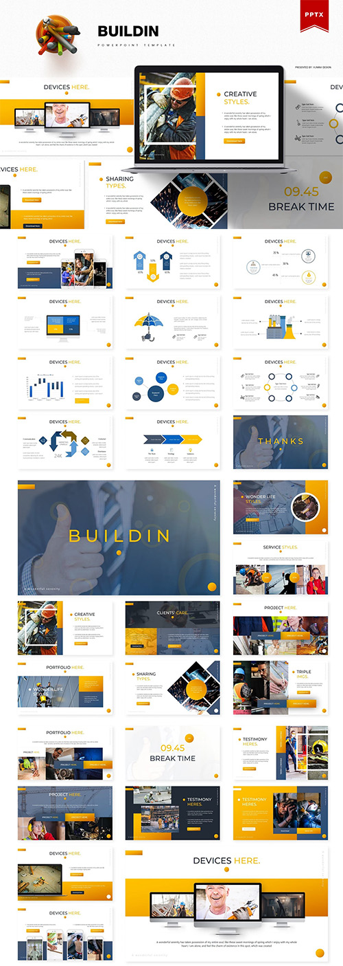Buildin | Powerpoint, Keynote and Google Slides Template