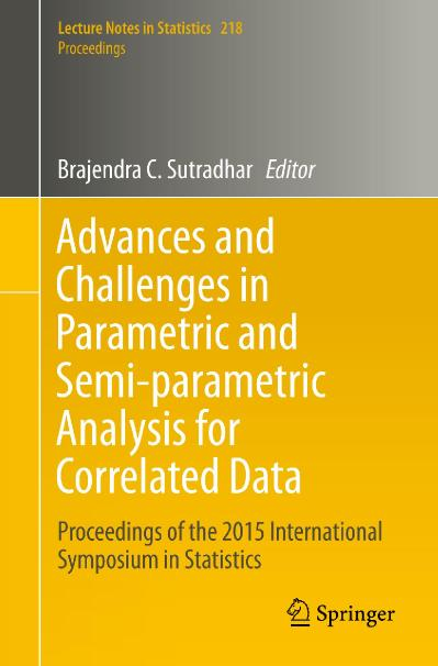 Advances and Challenges in Parametric and Semi-parametric Analysis for Correlated ...
