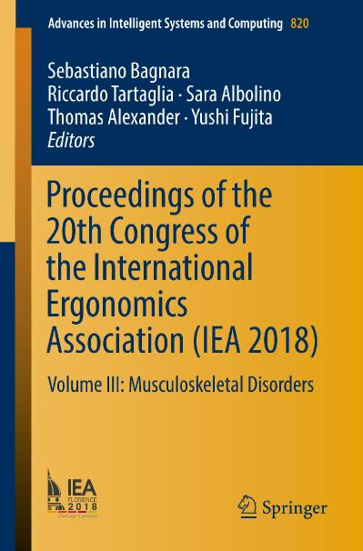 Proceedings of the 20th Congress of the International Ergonomics Association