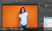 Замена цвета в Photoshop. Быстрый способ заменить белый цвет (2019) WEBRip
