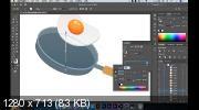 Иллюстрация для сайта. Рисуем яичницу в Adobe Illustrator (2019)