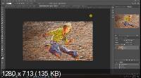 Превращение фото в искусство городской стены в Photoshop (2019/WEBRip)