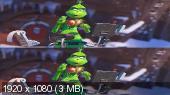Без черных полос (на весь экран) Гринч 3D / The Grinch 3D  ( by Amstaff) Вертикальная анаморфная стереопара