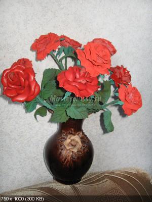 Букет роз из кожи A75530833fdfc1c0bfe25fc90dfa8091