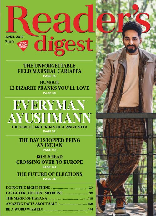 Reader's Digest India   April 2019