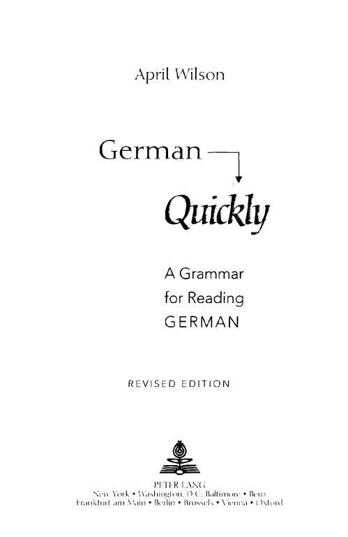 April Wilson's German Quickly
