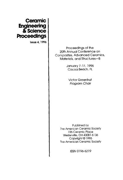 Proceedings of the 20th Annual Conference on Composites, Advanced Ceramics, Materi...