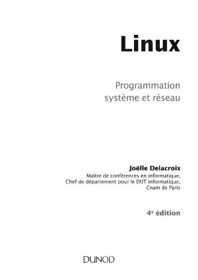 Linux Programmation systeme et reseau