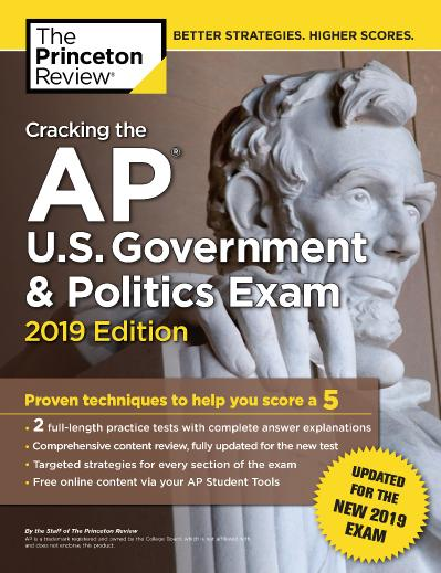 ing the AP U S  Government & Politics Exam, 2019 Edition Revised for the New 2019 ...