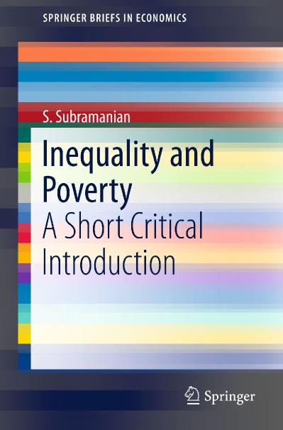 Inequality and Poverty A Short Critical Introduction